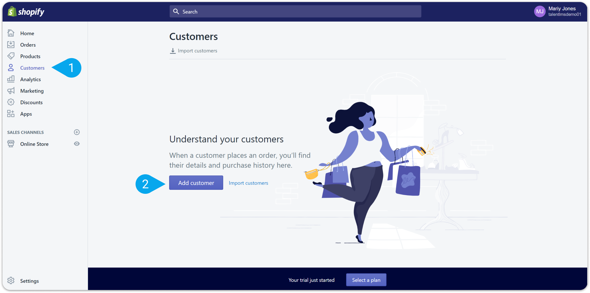 How to integrate Shopify and TalentLMS through Zapier