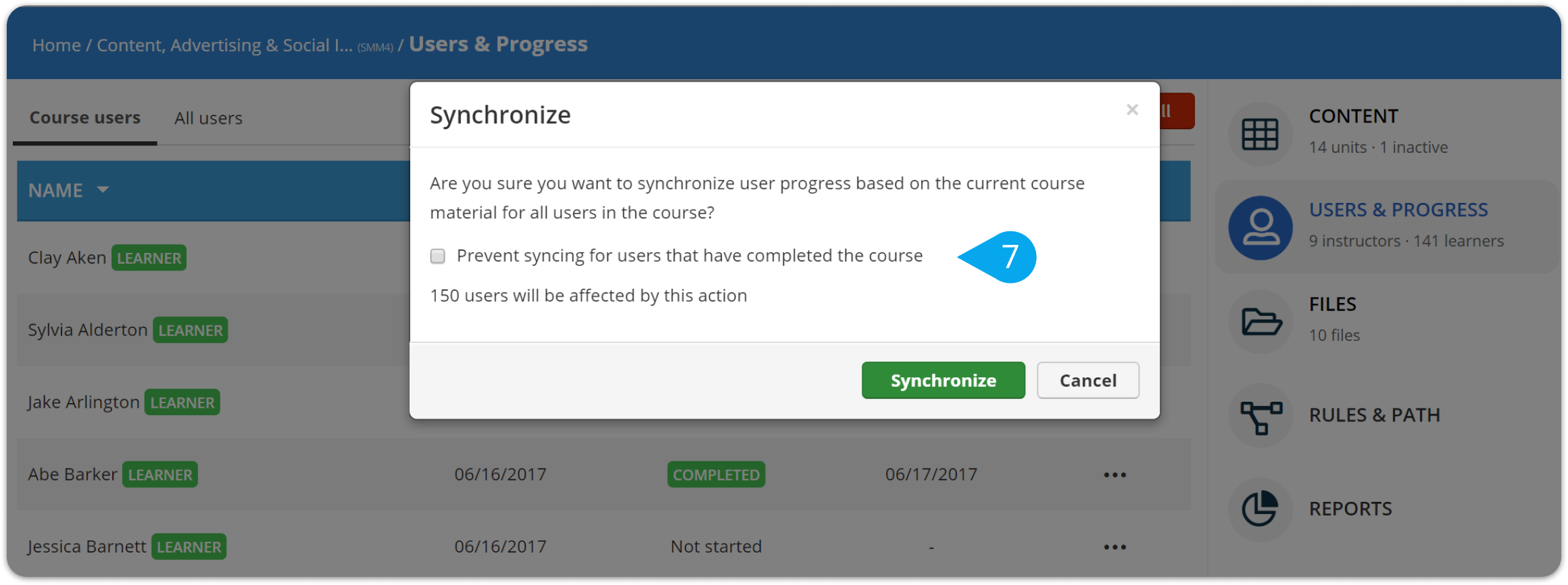 How to change a user's course completion status – TalentLMS Support